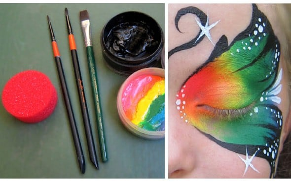 Step by Step Tutorial: Butterfly Face Painting